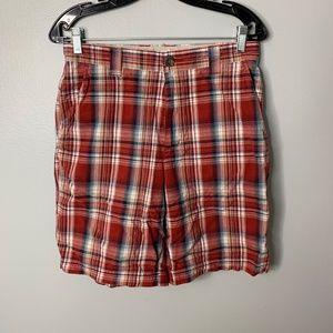 Columbia Red Plaid Shorts Sz 30 Mens